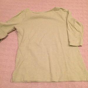 L.L. bean crop sleeve top
